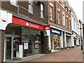 SJ8445 : Newcastle-under-Lyme: High Street shops by Jonathan Hutchins