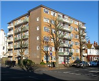 TQ2804 : Dolphin Court, Hove Street, Hove by Simon Carey