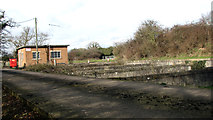 TG2202 : Concrete road into Caistor St Edmund sewage works by Evelyn Simak