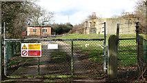 TG2202 : Caistor St Edmund sewage works - entrance by Evelyn Simak
