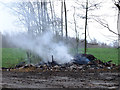 SD5701 : Burning waste on Land Gate Lane by Gary Rogers