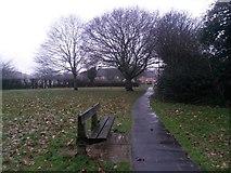 SZ0794 : Ensbury Park: a bench on footpath N26 by Chris Downer