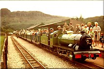 NY1700 : Ravenglass & Eskdale train at Dalegarth, 1962 by Robin Drayton