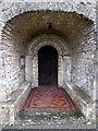 ST3757 : Porch at The Church of St Mary, Christon by PAUL FARMER