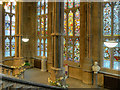 SD8913 : Rochdale Town Hall, Grand Staircase South Windows by David Dixon