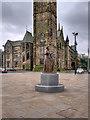 SD8913 : Gracie Fields Statue, Rochdale Town Hall Square by David Dixon