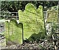 J3282 : Dunlap/Dunlop headstones, Carnmoney CoI graveyard, Newtownabbey (February 2017) by Albert Bridge