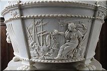 TF6120 : Keene monument detail, St Nicholas' Chapel, King's Lynn by J.Hannan-Briggs