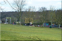 TQ2794 : Play areas, Oak Hill Park by Robin Webster