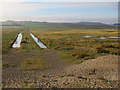 TG0744 : Iron Road across Salthouse Marshes by Hugh Venables