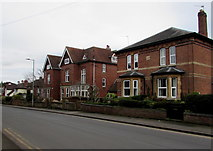 SO6024 : Later Victorian houses on a Ross-on-Wye corner by Jaggery
