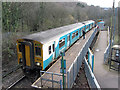 ST0697 : Train at Penrhiwceiber station by Gareth James