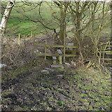 SE2342 : Stile and bridge over Bramhope Beck by Rich Tea