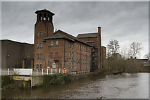 SK3536 : The Silk Mill Museum from the River Derwent by Malcolm Neal