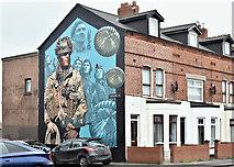 J3673 : Polish servicemen mural, Foxglove Street, Belfast (February 2017) by Albert Bridge