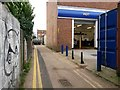 SZ1292 : Boscombe East: Warwick Place passes the back of KwikFit by Chris Downer