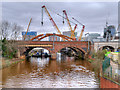 SJ8297 : Old and New Bridges over the Irwell by David Dixon