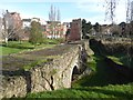 SX9192 : Part of the medieval bridge across the River Exe, Exeter by David Smith