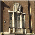 TL0821 : Art Deco in Luton –relief sculpture above window, former Ritz Cinema, Gordon Street by Robin Stott