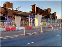 SJ8298 : Ordsall Chord, New Rail Bridge over Trinity Way (Dec 2016) by David Dixon
