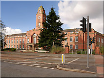 SJ8195 : Trafford (Stretford) Town Hall, Talbot Road by David Dixon