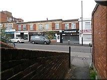 SZ0894 : Winton: footpath L01 emerges onto Wimborne Road by Chris Downer