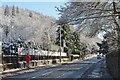NT2640 : Sun and snow, A72 Peebles by Jim Barton