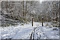 NT2640 : Snowy cyclepath leaving Peebles by Jim Barton