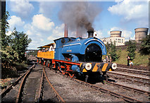 SD7901 : Steam Railway at Agecroft Power Station by David Dixon