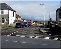 SS8178 : Junction of West Road and Heol Croes Faen, Nottage  by Jaggery