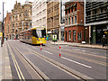 SJ8398 : Tram on Princess Street, Metrolink Second City Crossing by David Dixon