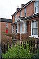 SP3165 : Porch detail, Victoria Street, Leamington Spa by Julian Osley