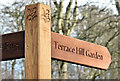 J3268 : Wooden finger-post sign, Minnowburn, Belfast - March 2017(1) by Albert Bridge