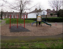 SZ6599 : Children's playground on the south side of Goldsmith Avenue, Portsmouth by Jaggery