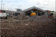 SZ6599 : Aldi supermarket expansion site, Goldsmith Avenue, Fratton, Portsmouth by Jaggery