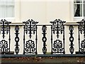 SP3166 : Railings and balconies, Clarendon Square – 4 by Alan Murray-Rust