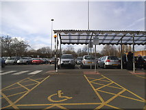 TQ2387 : John Lewis car park, Brent Cross Shopping Centre by David Howard