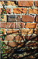 SP8827 : Benchmark on chimney breast of house at Rislip Farm by Roger Templeman