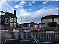 SJ8055 : Level crossing at Alsager Station by David Lally