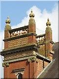 SK1746 : Ashbourne Methodist Church, tower detail by Alan Murray-Rust
