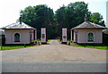 TG0904 : Lodges and gates near Carleton Forehoe by Stephen Richards
