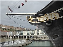 ST5772 : The bowsprit of SS Great Britain by Oliver Dixon