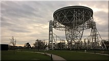 SJ7971 : The Lovell Telescope, parked for maintenance, at Jodrell Bank Observatory by Benjamin Shaw