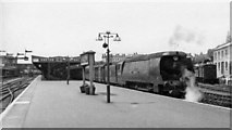 SX9193 : Exeter Central, with Bulleid Light Pacific 'Blackmore Vale', 1953 by Walter Dendy, deceased
