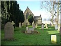 NZ1212 : St Mary's and the churchyard, Hutton Magna by Christine Johnstone