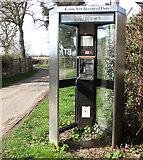 TM0591 : KX300 telephone kiosk by the junction of Fen Street and Barker's Lane by Evelyn Simak