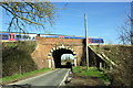 SU5688 : Railway Bridge carrying the Great Western Main Line over Hithercroft Road by Roger Templeman