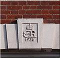 TQ3294 : Edward VIII cipher, Winchmore Hill Telephone Exchange by Julian Osley