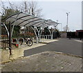 ST7847 : Bicycle shelters near Frome railway station by Jaggery