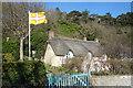 SY8280 : Flag & Cottage by Des Blenkinsopp